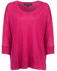 French Connection | Spring Light Knits Long Sleeve Scoop Neck Womens Jumper | Lyst