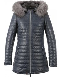Oakwood - Popping Cuir Mouton Uptown Womens Quilted Jacket - Lyst