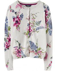 Joules Skye Printed Basic Womens Cardigan (z)