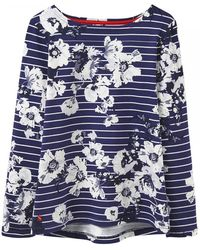 Joules - Harbour Print Womens Jersey Top (x) - Lyst