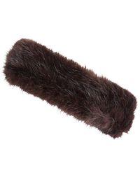 Joules - Luxe Faux Fur Ladies Headband (r) - Lyst
