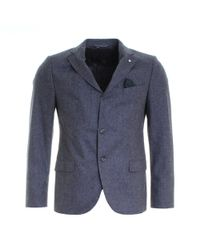 GANT - The Herringbone Mens Blazer - Lyst