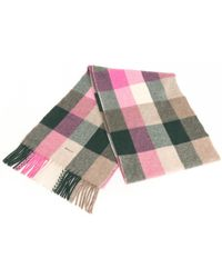 48e0d37daacd3 GANT - Multicheck Lambswool Womens Scarf - Lyst