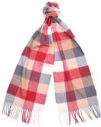Barbour - Large Tattersall L/wool Scarf - Lyst