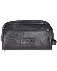 Barbour - Leather Wash Bag - Lyst
