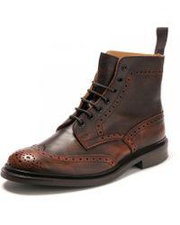 Tricker's - Mens Stow Crosshatch Tan Shoe - Lyst