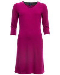 GANT - Jersey V-neck Womens Dress - Lyst