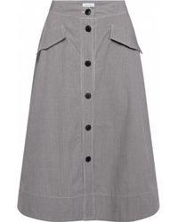 Calvin Klein - Mini Gingham Button Womens Skirt - Lyst