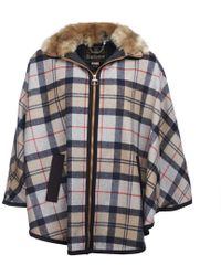 Barbour - Crieff Wool Womens Cape - Lyst