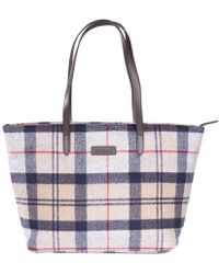 Barbour Witford Tartan Womens Tote Lyst