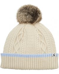 Joules - Anya Womens Bobble Hat S/s - Lyst