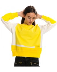 Calvin Klein Overprinted Womens Sweatshirt - Yellow