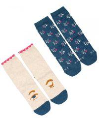 White Stuff - Make Me Blush Womens Socks 2 Pack - Lyst