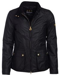 Barbour Back Flag Wax Womens Jacket - Black