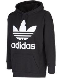 adidas Originals - Trefoil oversize hood - Lyst
