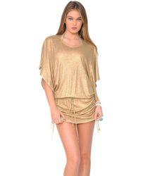 Luli Fama - Spirit Of A Fairy South Beach Dress In Gold (l) - Lyst