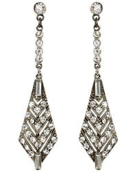 Ben-Amun | Belle Epoque Triangular Earrings | Lyst
