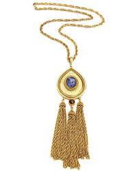 Ben-Amun - Gypset Teardrop Tassel Necklace - Lyst