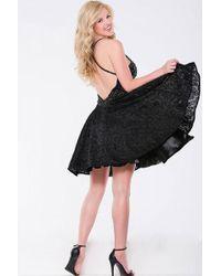 Jovani - Beaded Embellishments Halter A-line Dress Jvn - Lyst
