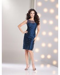 Social Occasions by Mon Cheri - Short Dress In Sapphire - Lyst