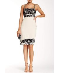 b30394b38b Sue Wong - Floral Embroidered Trim Sheath Dress R5105 - Lyst