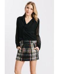 Karen Zambos - Red Plaid Smith Skirt - Lyst