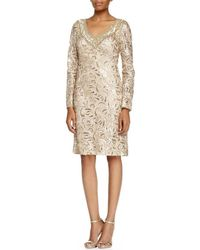 Sue Wong - Sequined Paisley V-neck Cocktail Dress N5115 - Lyst