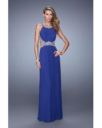 9f82e37d5b La Femme - 21101 Stunning Illusion Cutout Evening Dress - Lyst
