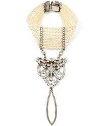 Ben-Amun - Belle Epoque Hand Bracelet With Deco Pendant - Lyst
