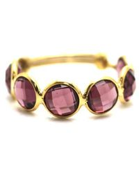 Trésor - Rhodolite Stackable Ring Bands With Adjustable Shank In K Yellow Gold - Lyst