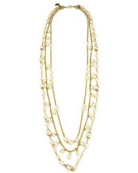 Ben-Amun - Lattice Pearls Multi Layers Necklace - Lyst