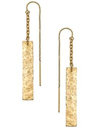 Heather Hawkins - Hammered Bar Thread Thru Earrings - Lyst