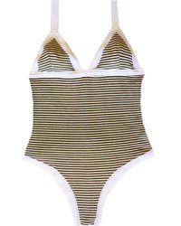 Leah Shlaer Swimwear - Lsl One Piece In Paris Stripes - Lyst