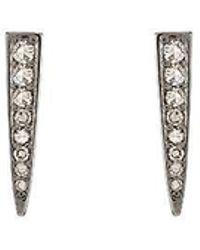 Ashley Schenkein Jewelry - Brooklyn Diamond Rhodium Spear Earrings - Lyst