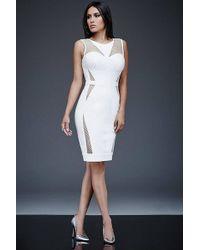 Jovani - Netted Panels Jewel Dress M - Lyst