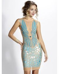 d6ff1c22fa0 Baccio Couture - Wings Mesh Painted Nude Turquoise - Lyst
