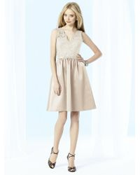 After Six - Iv Dress In Cameo - Lyst