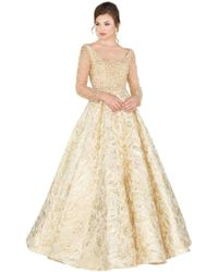 c8ccf2968a Mac Duggal - Couture - 66932d Beaded Illusion Long Sleeves Ballgown - Lyst