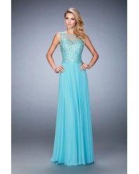 La Femme - Gigi - 22824 Sleeveless Lace Embellished A Line Gown - Lyst