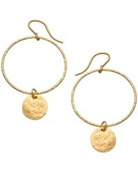 Heather Hawkins | Hammered Hoop Coin Earrings | Lyst
