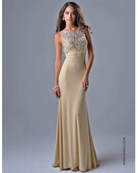 Nina Canacci - 8038 Dress In Champagne - Lyst