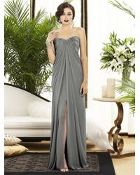 Dessy Collection | Dress In Charcoal Gray | Lyst