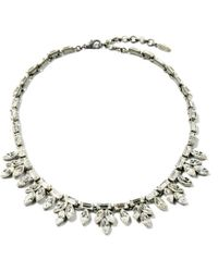 Ben-Amun - Small Crystal Baguette Necklace - Lyst