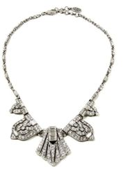 Ben-Amun - Crystal Deco Triangle Necklace - Lyst