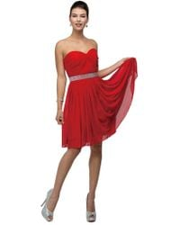 Couture Candy - Sweet Ruched Sweetheart Short A-line Dress - Lyst