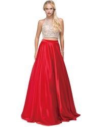 Couture Candy - Two-piece Jewelled Bodice Satin A-line Prom Dress - Lyst
