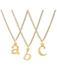 Rachael Ryen - K Yellow Gold Letter Charm Necklace - All Letters Available - Lyst