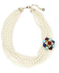 Ben-Amun - Byzantine Pearl Necklace With Brooch - Lyst
