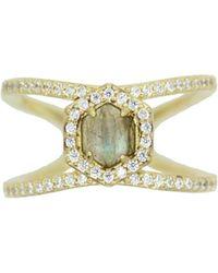 Rachael Ryen | Hexagon Pave Ring - Labradorite | Lyst