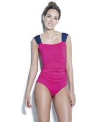 Estivo Swimwear - Draping One Piece With Wide Straps &removable Cups /sld/ - Lyst